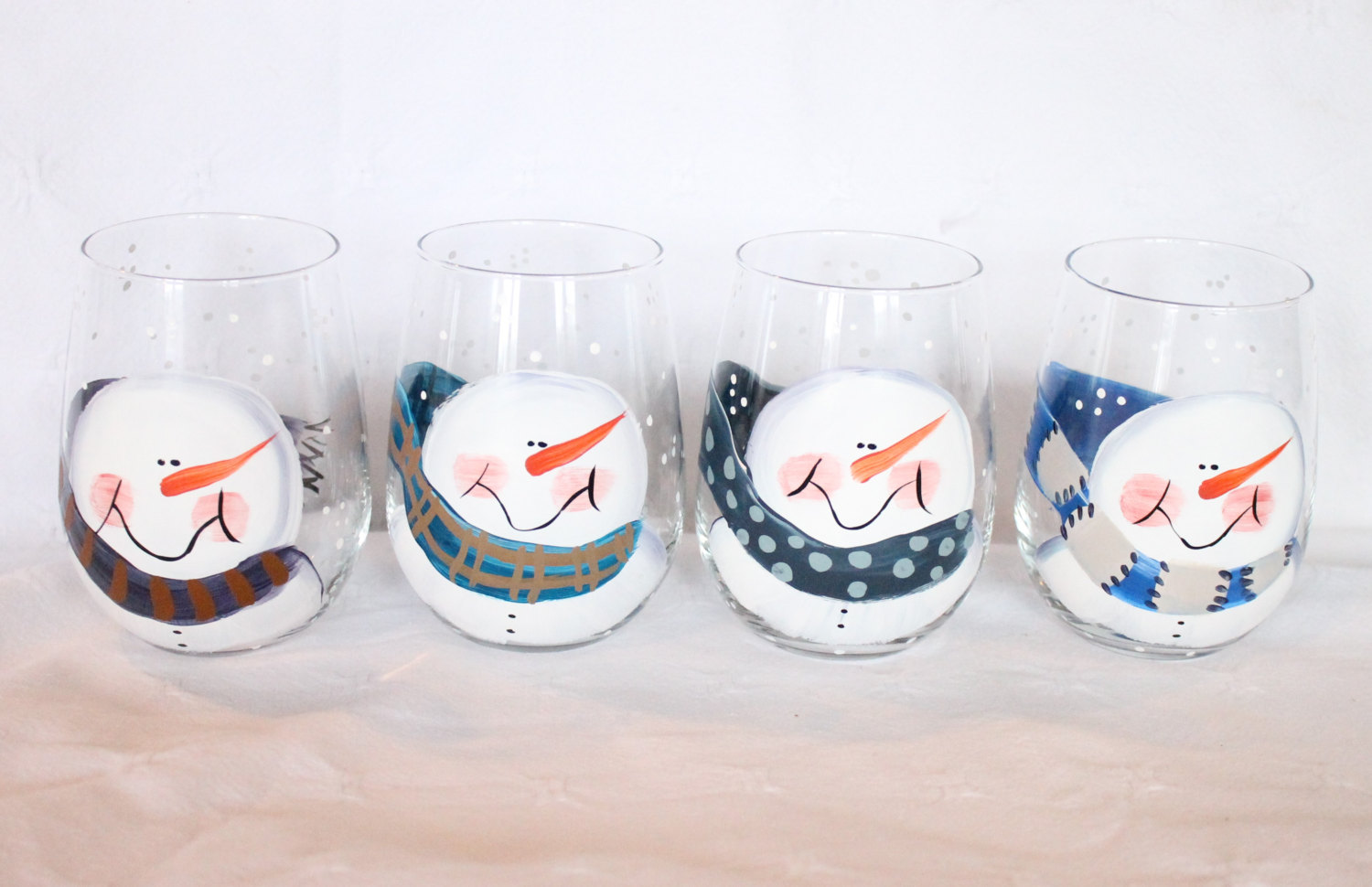 Gt stemless painted wine glasses gt stemless hand painted wine glasses